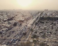 Smog in Pakistan's capital, Karachi, which is world's sixth-most-populous city with a population of over 14 million. 