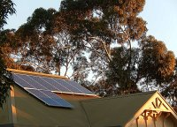 A rooftop solar PV installation on an old house in a suburb of Adelaide, South Australia.