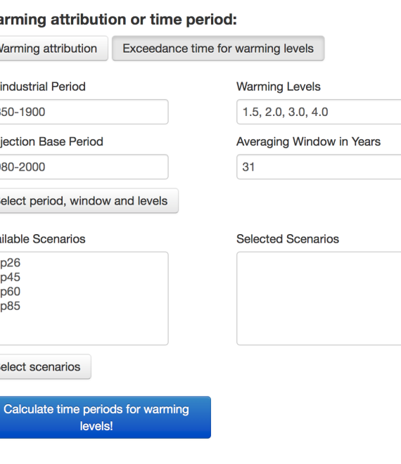 Warming attribution calculation