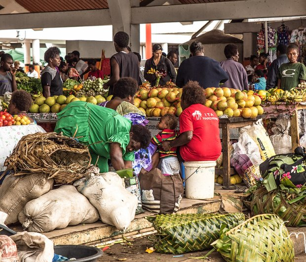The coronavirus crisis has the potential to affect global food supply and prices, with severe implications for atoll nations with limited productive land. ©Petra Bensted, CC BY-NC-ND 2.0