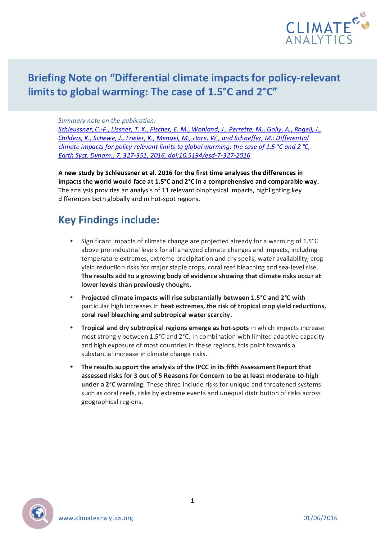 Briefing note on differential climate impacts for policy relevant briefing note on differential climate impacts for policy relevant limits to global warming the case of 15c and 2c climate analytics publicscrutiny Image collections