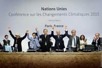 Celebration following the adoption of the Paris Agreement on 12 December 2015 (Paris, Le Bourget)