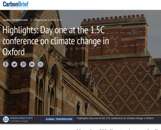 Highlights: Day one at the 1.5C conference on climate change in Oxford