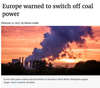 Europe warned to switch off coal power