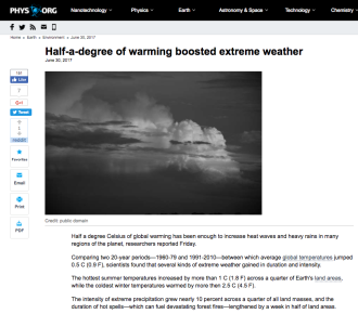 Half-a-degree of warming boosted extreme weather
