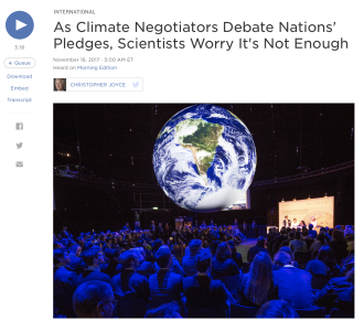 As Climate Negotiators Debate Nations' Pledges, Scientists Worry It's Not Enough