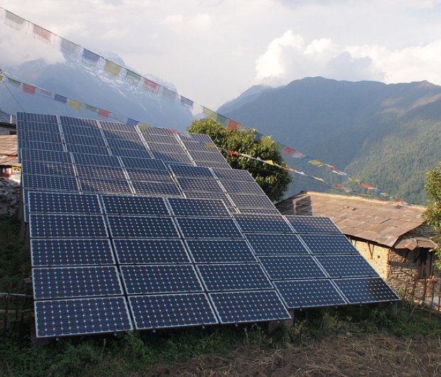 Solar panels in Nepal. ©Photo by Photo by Rob Goodier / Engineering for Change